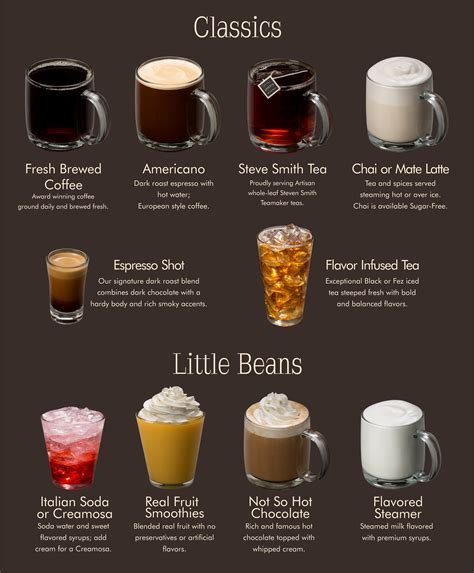 Coffee Bean Gift Card Free Drink - human bean menu espresso specialties classic drinks