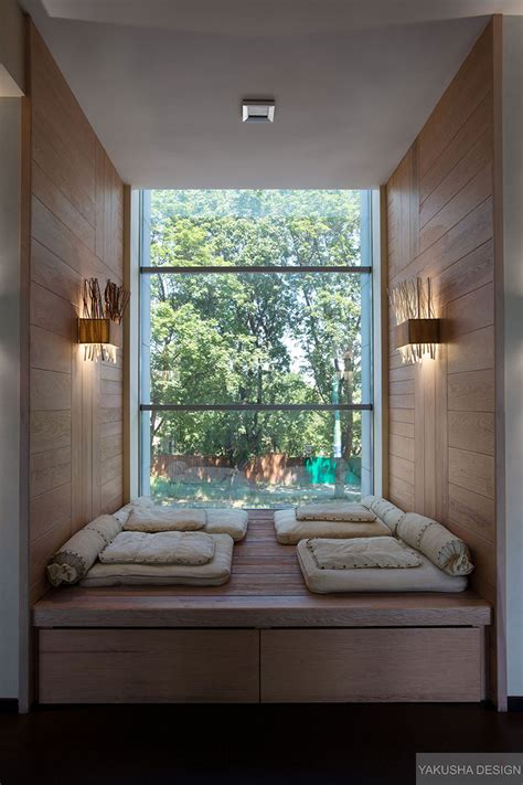 Nook House | recessed reading nook window with mini day beds interior