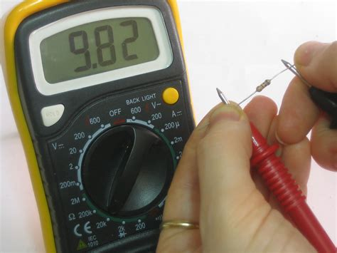 test a resistor with a multimeter multimeter tutorial measuring resistance