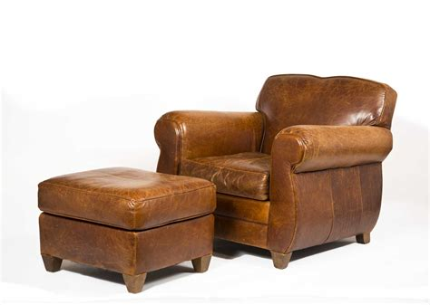 mitchell gold leather ottoman leather armchair and ottoman made by quot mitchell gold