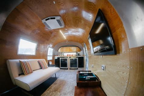 Airstream Interiors Modern by New Airstream Lounge And Bar Is A Big Hit With Corporate