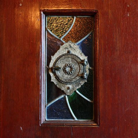 Antique Stained Glass Doors For Sale Salvaged 36 Plank Door With Stained Glass Speakeasy Ned117 For Sale Antiques