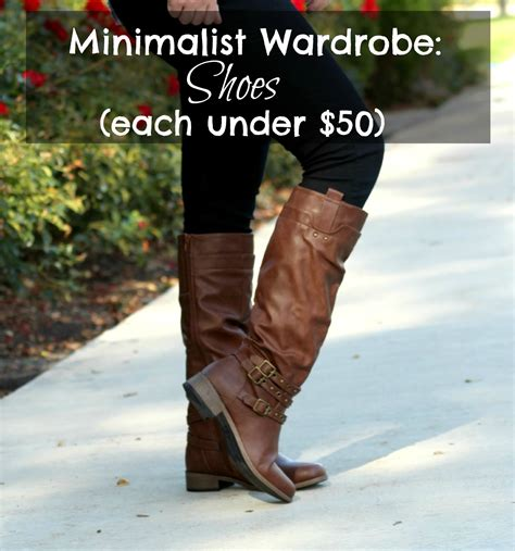 minimalist wardrobe shoes 5 pairs each 50