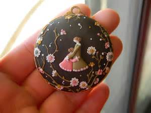 Polymer Clay Christmas Crafts - mother and daughter pendant polymer clay by thepetiteshop on deviantart