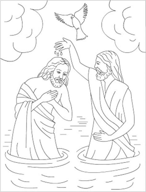 baptism jesus coloring pages self catering kwazulu