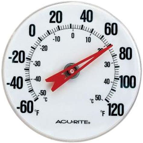 Termometer Analog acurite analog thermometer 00346hdsba2 the home depot