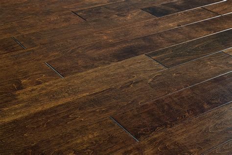 jasper engineered hardwood handscraped maple old west collection maple chocolate 5 quot 1 2