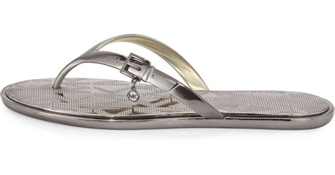 Sandal Emory 11aemo567 Wedges michael michael kors emory buckle flat sandal in metallic save 32 lyst