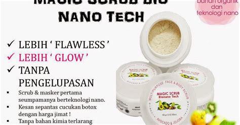 Scrub Chriszen magic scrub bio nano tech produk kecantikan kesihatan jamu dan set bersalin murah dan asli