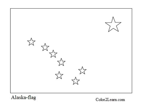 Free Coloring Pages Of Alaska Flag Alaska Flag Coloring Page
