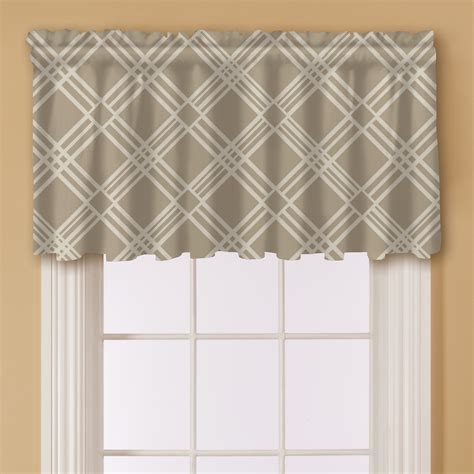 Solid Window Valances Essential Home Solid Valance Brown Home Home Decor