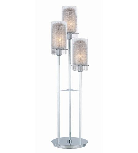 Lite Source Caldwell 3 Light Table L In Chrome With