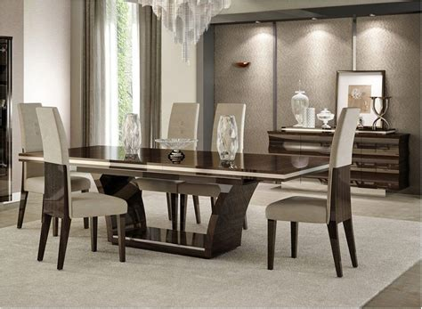 excellently giorgio italian modern dining table set