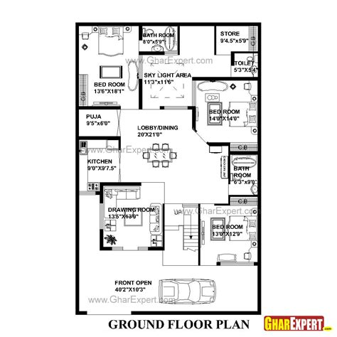 house plan for 42 feet by 75 feet plot plot size 350 house plan for 42 feet by 66 feet plot plot size 308