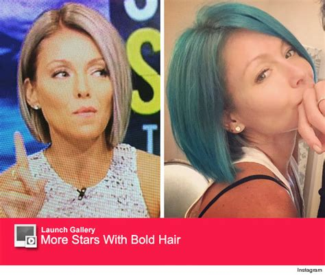 krlly tipa have thick hair kelly ripa goes from blue to opal see her latest hair