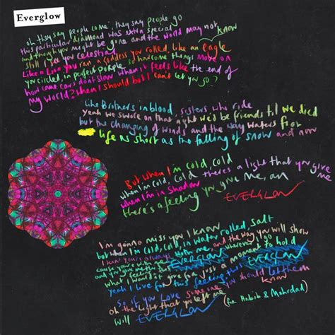 Coldplay Lyrics Everglow | exclusive the unseen artwork by chris martin and will