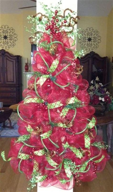 deco mesh christmas tree pinteres