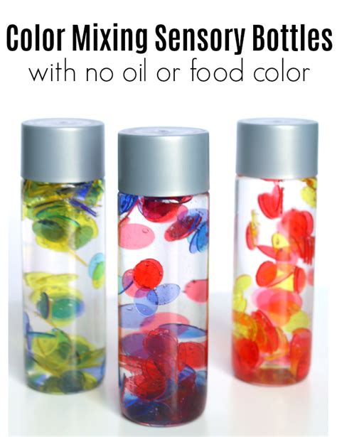 colors and bottles no no food color color mixing sensory bottles no