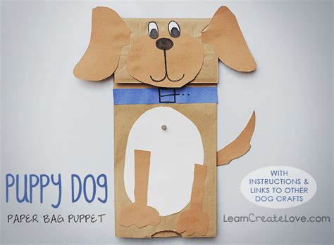 How To Make A Paper Bag Puppet Animal - paper bag puppy craft
