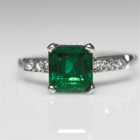 emerald vintage engagement rings wedding promise