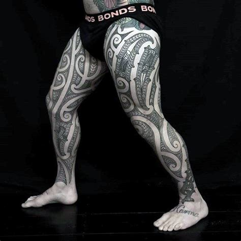 full leg tribal tattoos 30 tribal thigh tattoos for manly ink ideas