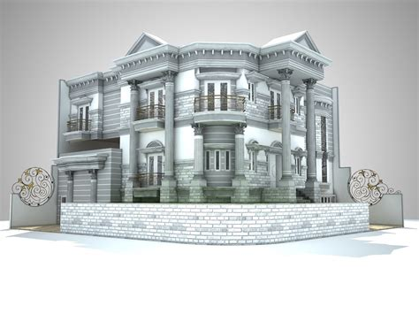 house design classic classic house design 3d model