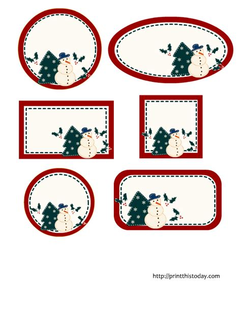 printable christmas tags you can type on editable christmas labels in 6 different shapes free