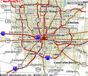 Maps Columbus Ohio by Site Map