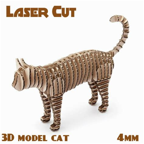 Free Drafting Software cat toy decor cnc laser cutting file template sliced