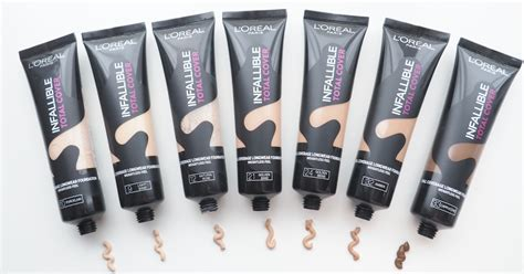 L Oreal Infallible Total Cover Foundation l or 233 al infallible total cover foundation review