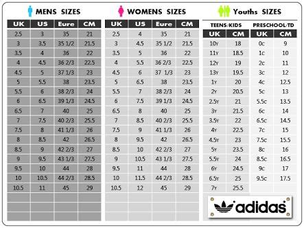 adidas superstar size chart   shoe size conversion