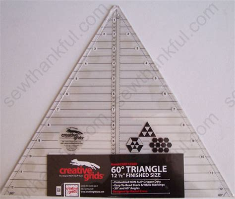 creative grids cgrt12560 12 12 1 2 quot 60 degree triangle