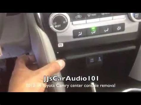 how to remove 2012 2014 toyota camry center console youtube
