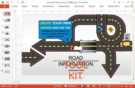 powerpoint road template animated road powerpoint template