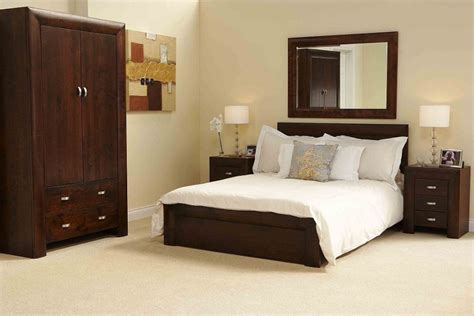 brown wood bedroom furniture cozy white bedroom interior design with brown wood