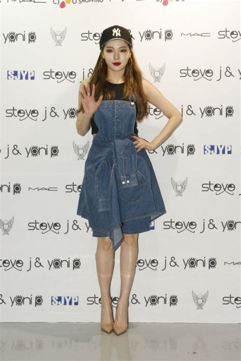 take a look at 4minute s hyuna s hipster fashion in hyuna bora nana and sooyoung attend steve j and yoni p