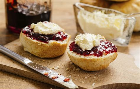 rich scones with jam and cream better homes and gardens