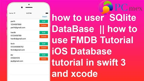 xcode tutorial deutsch swift how to user sqlite database fmdb tutorial in swift 3