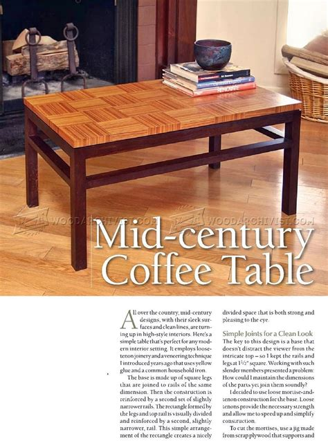 coffee table wood plans coffee table plans woodarchivist