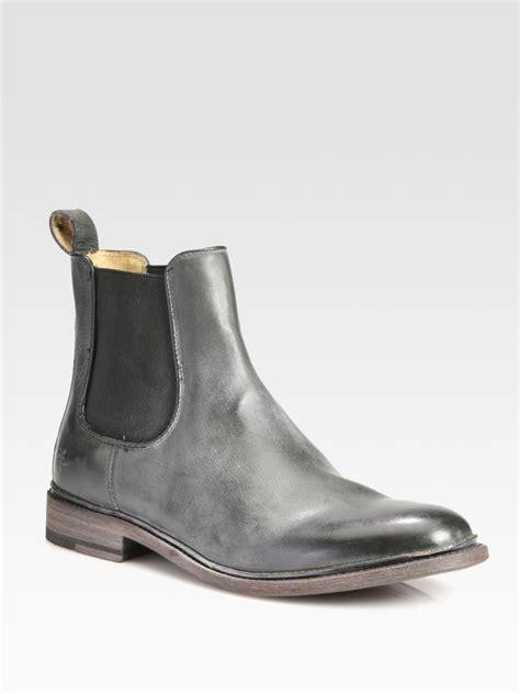 frye chelsea boot lyst frye chelsea boot in black for