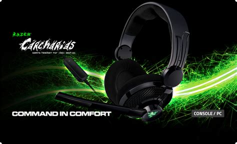 Headphone Razer Carcharias razer carcharias gaming headset xbox 360 pc gaming headset razer united states