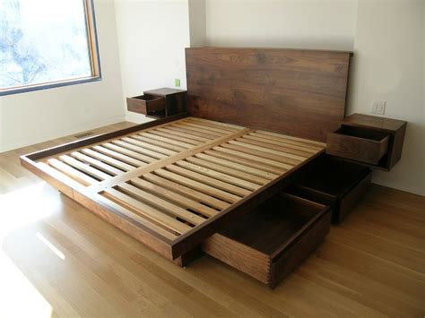 Build Platform Bed With Drawers by Platform Bed With Drawers Beds