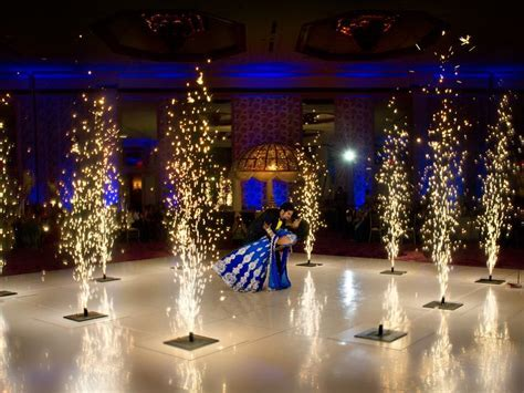 indoor fireworks for the first dance #dallas texas indian
