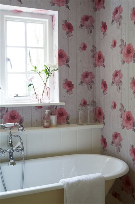shabby chic wallpaper ideas bathroom wallpaper ideas shabby chic style bathroom