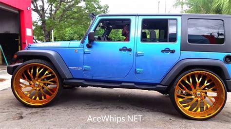 gold jeep wrangler acewhips blue jeep wrangler on gold 30 s asantis