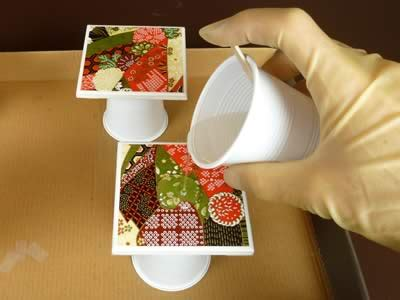 Waterproof Decoupage - how to make coasters warning read this before you make