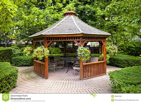 The Wooden Chair Lynchburg Va Gazebo In Garden Stock Photo Image 26857260