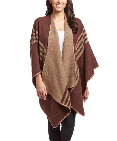 Wrap Up Warm Ipod Wraps by Womens Thick Warm Checkered Striped Poncho Blanket Wrap