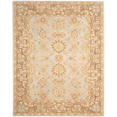 teal area rug home depot safavieh anatolia teal brown 9 ft x 12 ft area rug an557a 9 the home depot