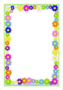 Flowers A4 Page Borders Sb10393 Sparklebox Tuin Flowers A4 Page Borders